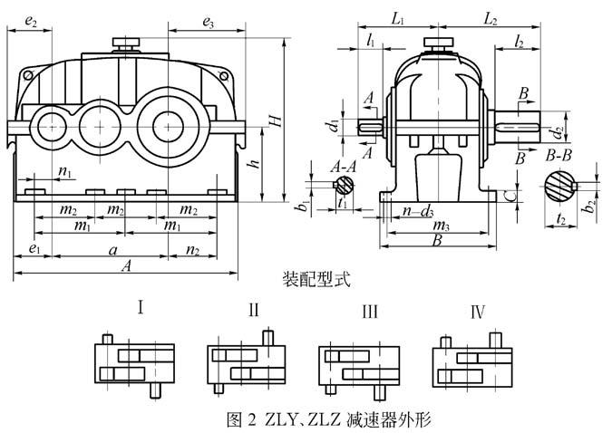 ZLZ|ZLY圆柱齿轮减速机装配图