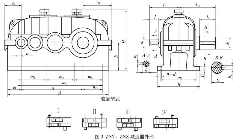 ZSY ZSZ圆柱齿轮减速机装配图